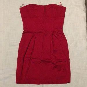 Strapless tube mini dress